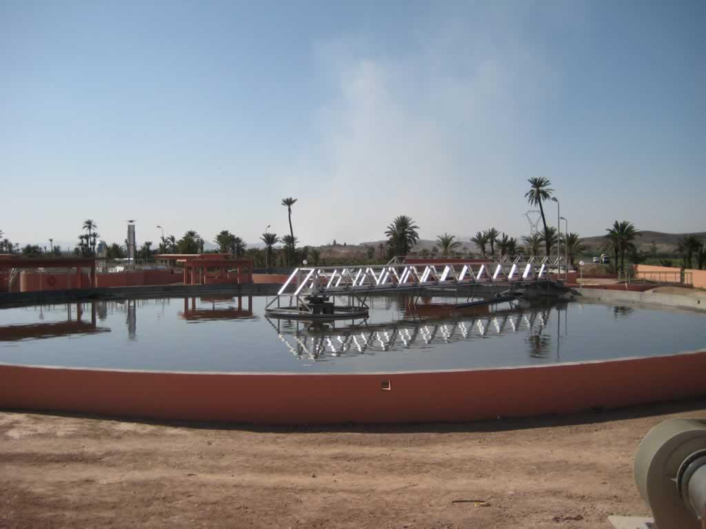 Station d'épuration de Marrakech, Maroc